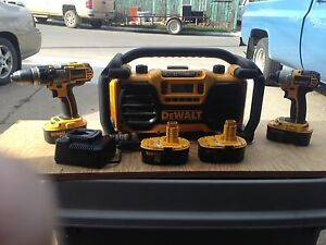 Job site radio and drill combo