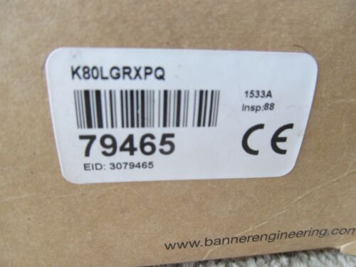 Banner K80LGRXPQ EZ-LIGHT 2-Color Flush Mount Indicator Light
