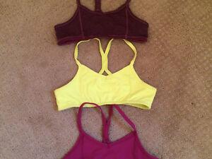 Girls size 8 joe sports bras