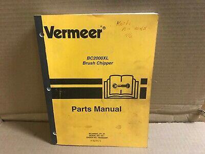 Vermeer Bc2000xl Brush Chipper Parts Manual 105400zdp -- 2004 Printing