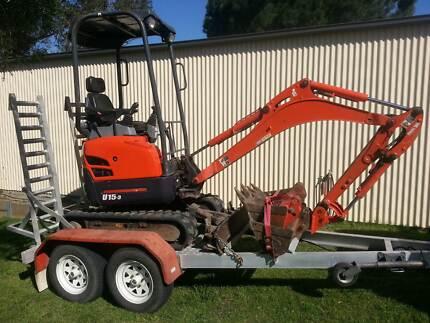 DIG YOUR DIRT mini excavator hire Cessnock Cessnock Area Preview
