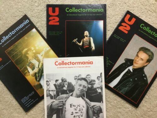 U2 Collectormania magazine fanzine lot Bono 1980s 1990s