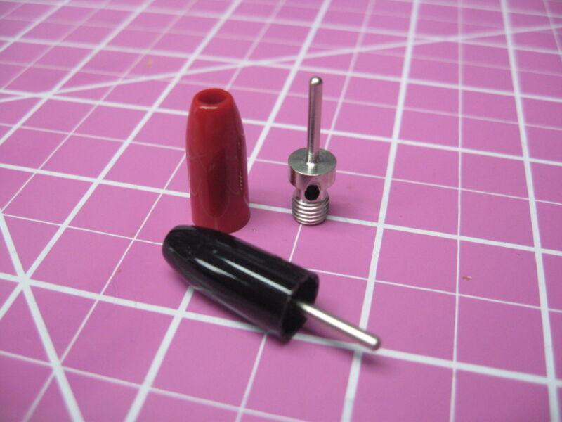 "Johnson Cinch - Pin Tip Plug - .080""/2mm Diameter - 1 Pair Red/Black"