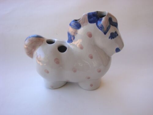 M A Hadley  Horse figure with holes  Flower Frog / tooth brush Holder