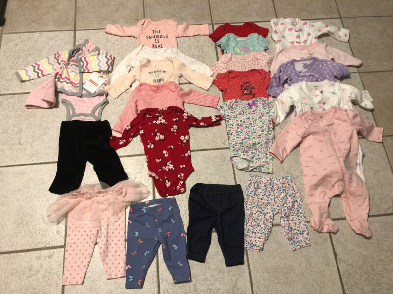 20 Pc Lot Baby girl clothes  3  months Outfits Bodysuit Jumpsuit