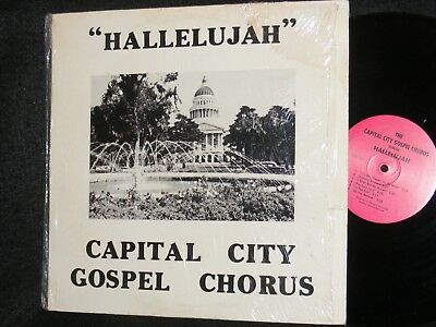 Capital City Gospel Chorus Sacramento Ca Private Issue Lp Sings Hallelujah 1980