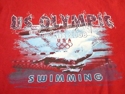 USA Swimming 2008 Olympics Trials - Omaha - T-shirt Shirt - Environment  Y4