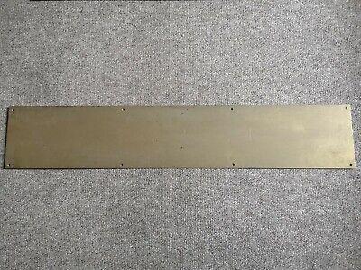 Large Brass Door Kick Plate 810mm x 150mm