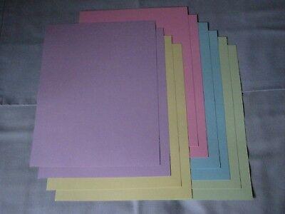 Color Paper (SALE!! 8.5 x 11 CARDSTOCK PAPER - PASTEL COLORS - 10 SHEETS -)
