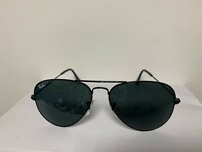 Ray-Ban RB 3025  Aviator Sunglasses / Black Frame Black Lens 58 (Ray Ban Original Aviator 58mm Sunglasses)