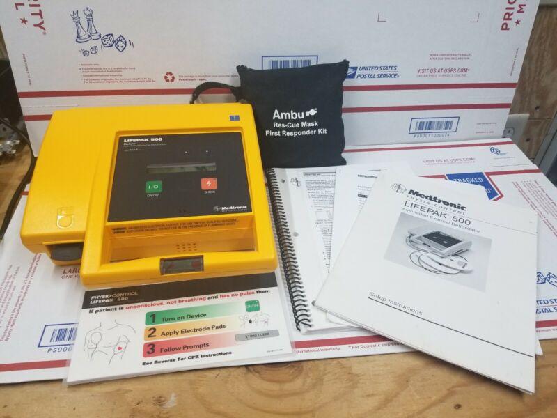 LifePak 500 Biphasic Automated External  Physio-Control Free Shipping