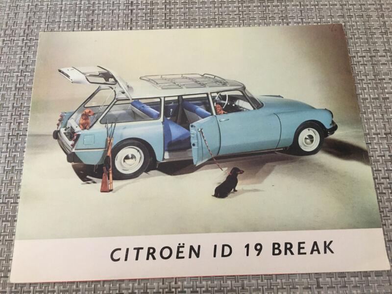 Vtg 1960 Citroen ID 19 Break Dealer Brochure Car Auto Wagon