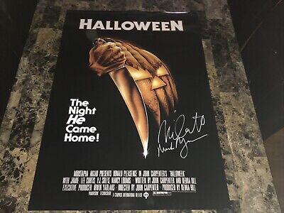 Halloween Rare Signed 1978 Horror Movie Poster Michael Myers Nick Castle - Halloween Movie 1978 Photos
