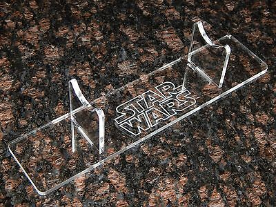 Laser Cut Acrylic Light saber display stand holder with engraved Star Wars image (Lightsaber Stand)