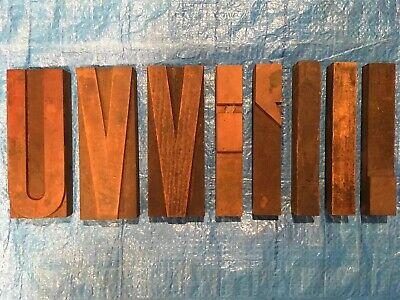 Large 6 12 Antique Wood Letterpress Printing Press Type Block Letters Typeset
