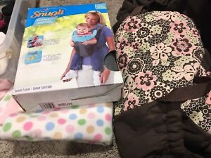 Car seat cover, snugly baby carrier, Eddie Bauer stroller cover