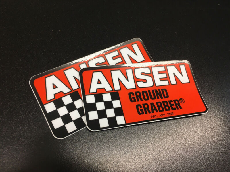 ANSEN Ground Grabber Traction Bar Decals X2 NHRA Gasser Racing Decals