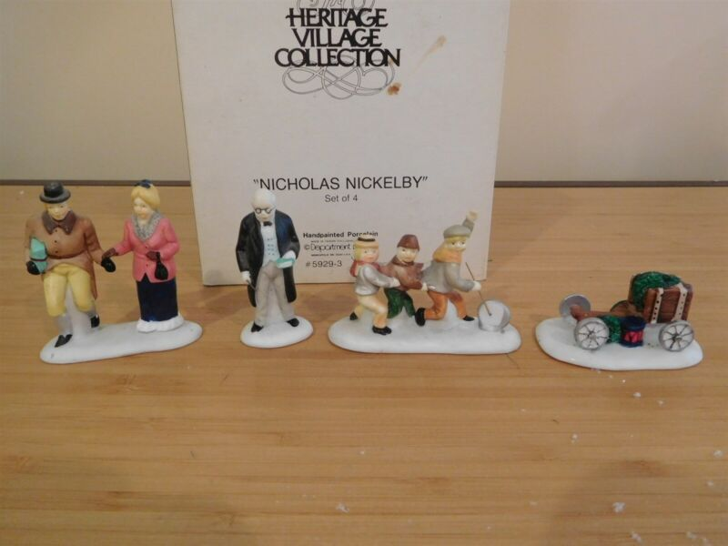 Dept 56 Dickens Village - Nicholas Nickelby - Set of 4 - Free Shipping