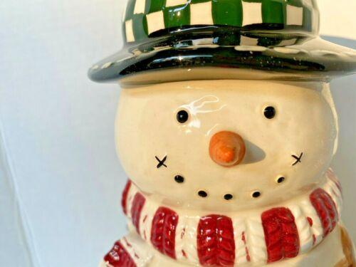 Snowman Cookie Jar Make The Season Bright