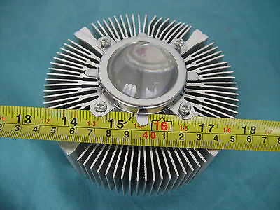 1pc 12v Up To 100w Led Aluminium Heatsink Round Len 30w 50w 100w 120mmx40mm