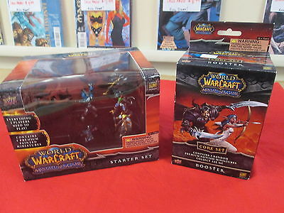 WORLD OF WARCRAFT MINIATURES CORE SET STARTER AND 1 BOOSTER NEW UNOPENED