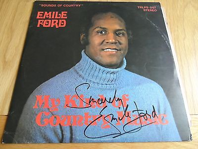 Emile Ford - My kind of country music lp SIGNED COPY BLUE VINYL