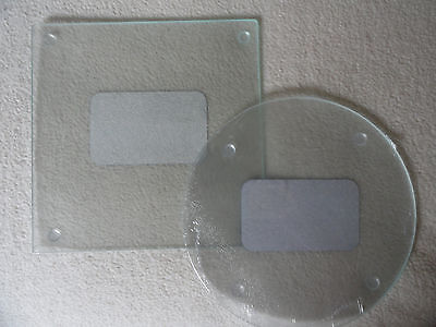 Kitchen Cutting/Serving Board By Cooking Concepts Clear Glass Set Of 2 Rd. & Sq. (Glass Cutting Board Set)