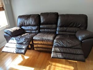 Three pieces sofa