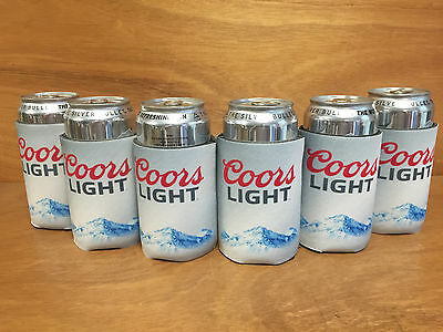 Coors Light Koozie Silver Bullet Rockies Bottle Can Set of (6)  New & Free Shipn