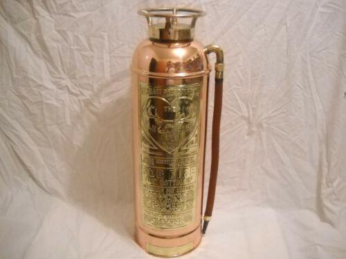 VINTAGE ELKHART BRASS SODA ACID FIRE EXTINGUISHER - EMPTY