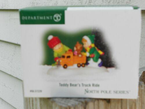 DEPT 56 NORTH POLE VILLAGE Accessory TEDDY BEAR