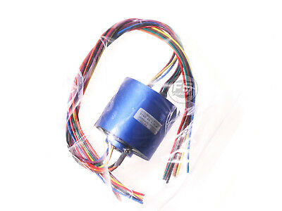 New 8wires 380v Acdc 10a 12.7mm Dia Metal Capsule Conductors Slip Ring Blue