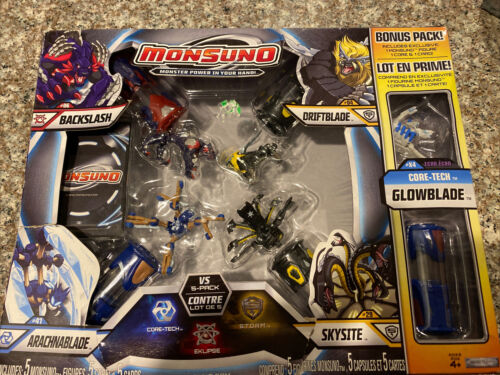 Monsuno Combat Bonus Pack Backslash Driftblade Arachnablade Skysite Glowblade - $19.95