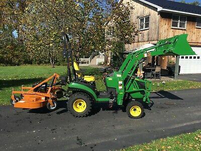 John Deere 1025r Tractor 14hrs 4x4 Hydro R4 Tires Loader Woods Rdc54 Mower