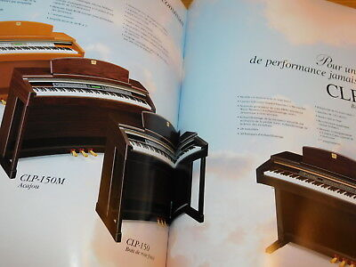 publicité YAMAHA CLAVINOVA clavier piano CLP-170 150 130 120 115 PUB advertising for sale  Shipping to Canada