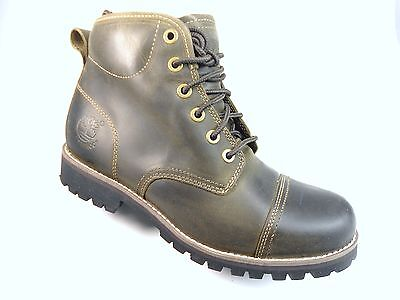 TIMBERLAND 5537R EK. RUG MEN'S DK.OLIVE WATERPROOF LEATHER BOOTS