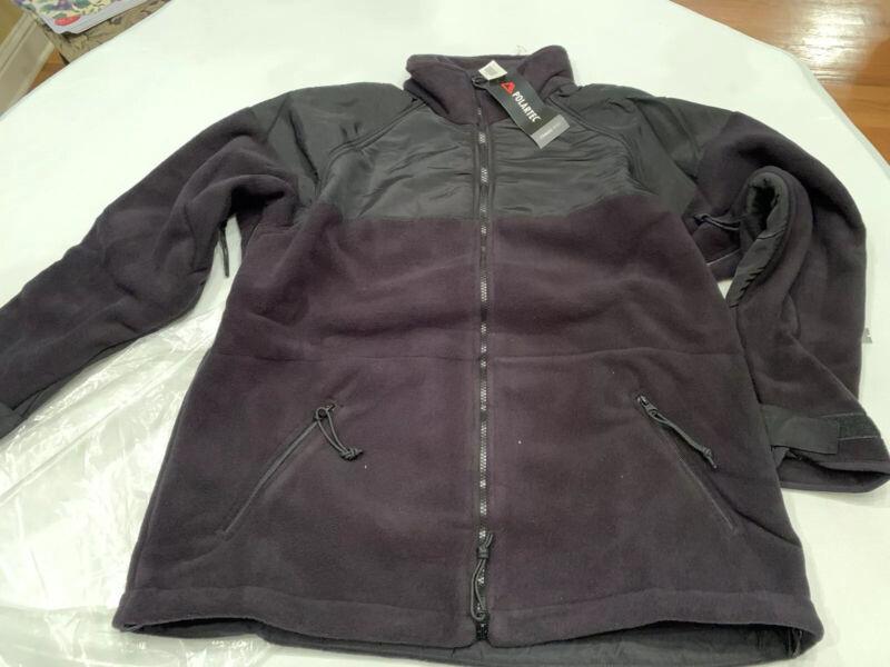 Military Fleece Jacket X Large New Polartec Brand Black Unissued New In Wrap
