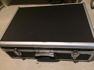 "Aluminum hard case with foam 18.1"" X 13"" X 6"""