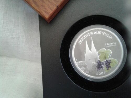 2007 Discover Australia (ADELAIDE) w/OMP & COA Silver Proof Coin Beautiful