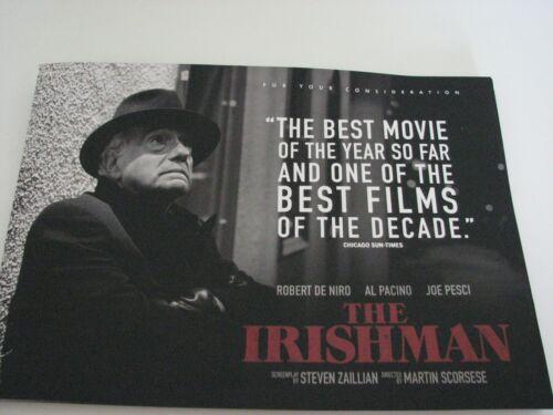 Irishman Pressbook FYC Oscar photo book Robert DeNiro Joe Pesci Al Pacino NEW