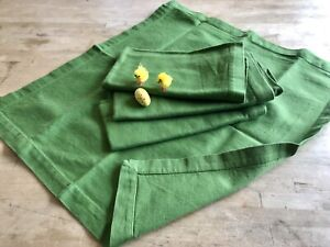 Green napkins, 100% cotton, large
