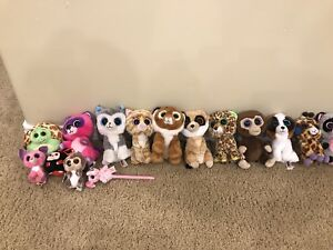 Beanie Boo S size lot + 3 clips