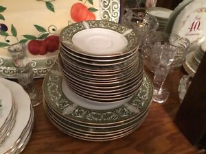 Lot of beautiful dishes