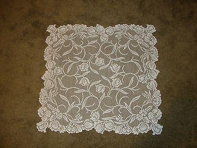 White lace Dutch Garden design Table Topper 30 x 30