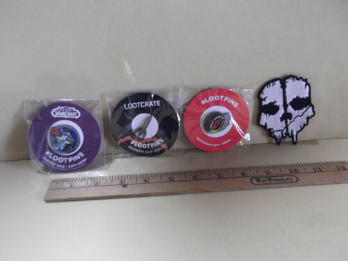 Miscellaneous Loot Crate Items Skull Patch and Pins