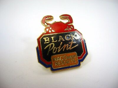 Vintage Collectible Pin  Black Point Naco West Resorts Crab Design