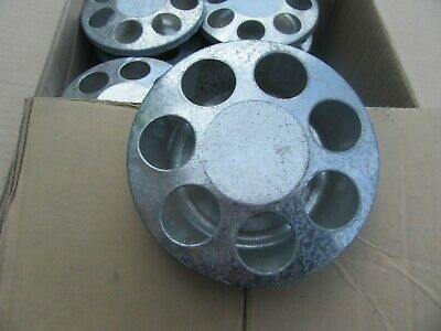 D98 Chick Feeder 7 Hole Galvanized Poultry Feeder Waterer Lot Of 40