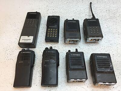Lot Of 8 Motorola Handheld Radios For Parts Or Repair Mtx-900 Mtx950 Gtx-900