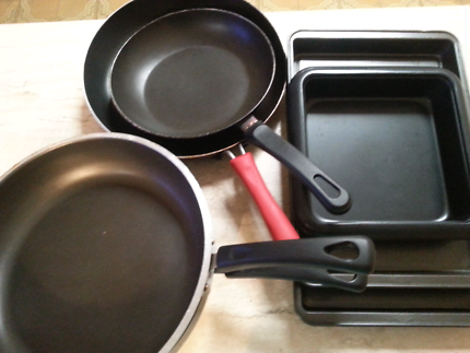 non-stick pans and trays