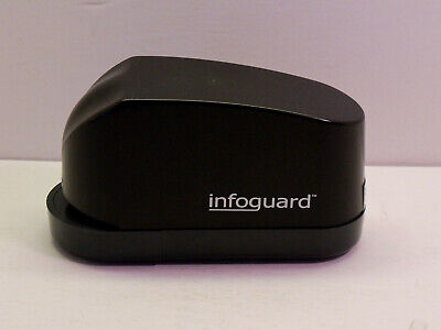 Infoguard Electric Stapler No Power Adapter Battery Only Works Great